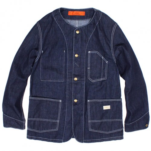 GOWEST (ゴーウエスト) MEN'S NO COLLAR WORK JACKET (ONE WASH) GWJ6065EWO