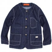 GOHEMP (ゴーヘンプ) MEN'S NO COLLAR JACKET (INDIGO) GHJ6076HOX
