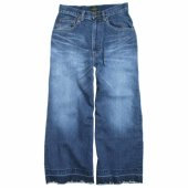 GOHEMP (ゴーヘンプ) LADY'S WIDE DENIM PANTS (FRAYED HEM) GHP8058LDF