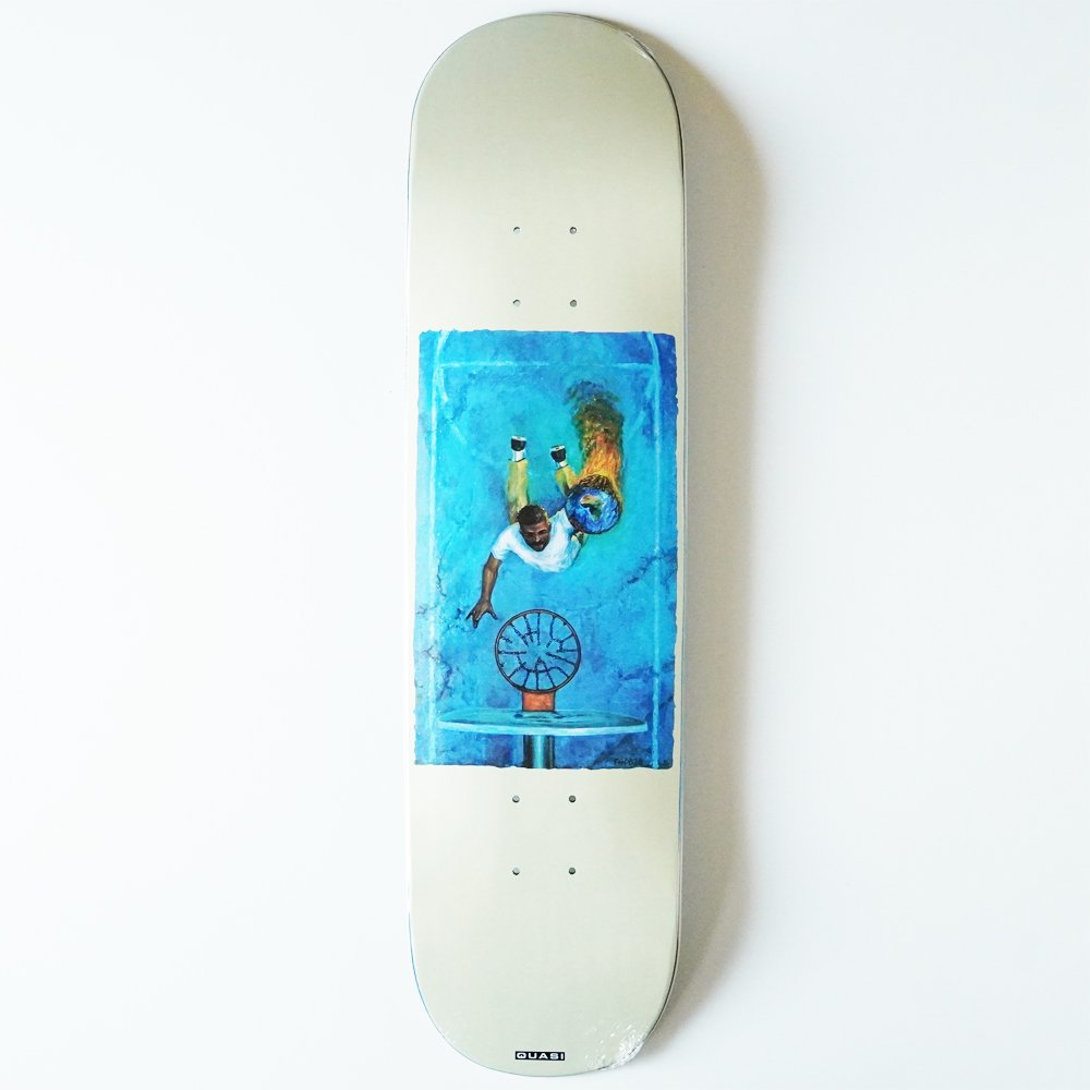 QUASI SKATEBOARDS ( クワージー スケートボード ) デッキ JUSTIN HENRY PRO DEBUT BOARDS  ' GAME 7 ' WHITE ( 8.25 )