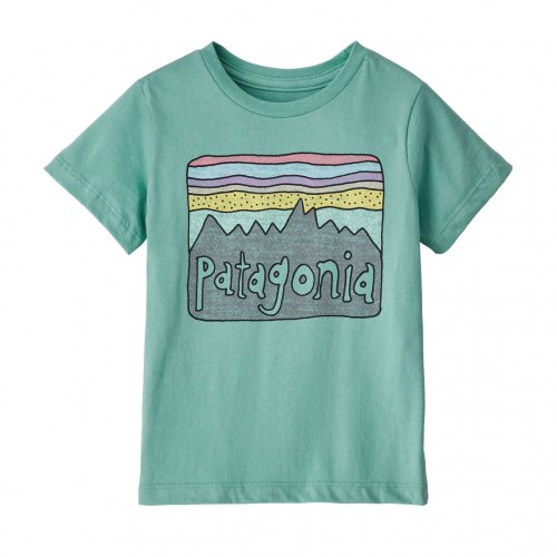 PATAGONIA (パタゴニア) BOY'S FLYING FISH COTTON / POLY T-SHIRT (ANDB) 62216