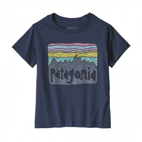 PATAGONIA (パタゴニア) BOY'S FLYING FISH COTTON / POLY T-SHIRT (NVYB) 62216
