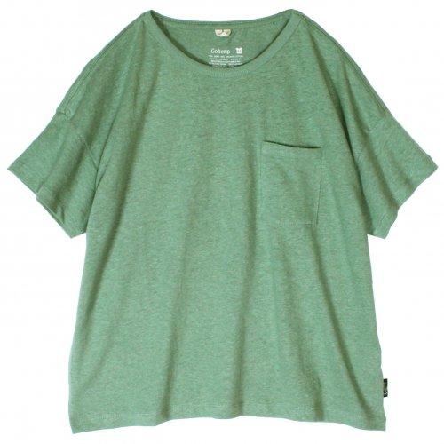 GOHEMP ( ゴーヘンプ ) ワイドポケットTシャツ BASIC LADY'S WIDE PK TEE ( KALE GREEN ) GHC4290RG