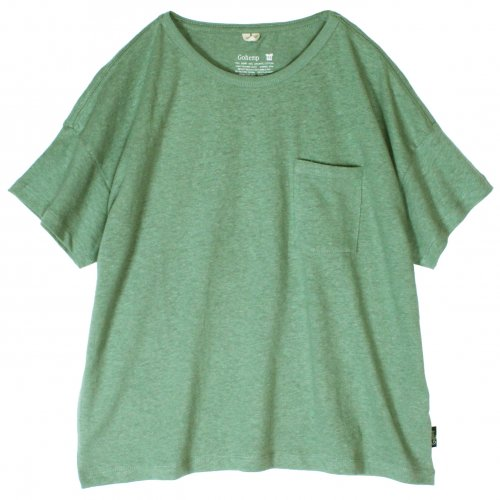 GOHEMP (ゴーヘンプ) BASIC LADY'S WIDE TEE (GUNMETAL GRAY) GHC4283RG17