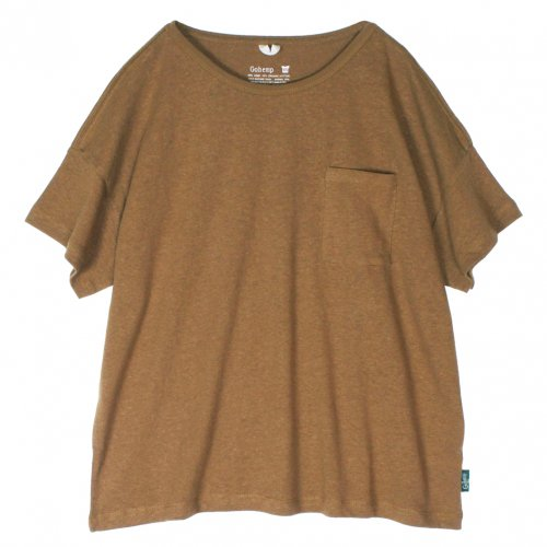 GOHEMP ( ゴーヘンプ ) ワイドポケットTシャツ BASIC LADY'S WIDE PK TEE ( FIELD WOOD ) GHC4290RG