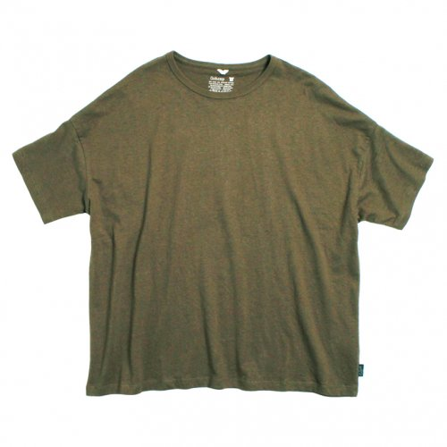 GOHEMP (ゴーヘンプ) BASIC LADY'S WIDE TEE (OLIVE GREEN) GHC4283RG17