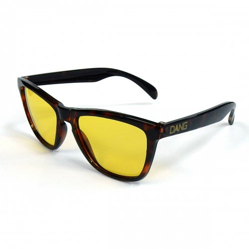 DANG SHADES (ダンシェイディーズ) ORIGINAL (GLOSS TORTOISE × CLEAR YELLOW) (NIGHT RIDE)