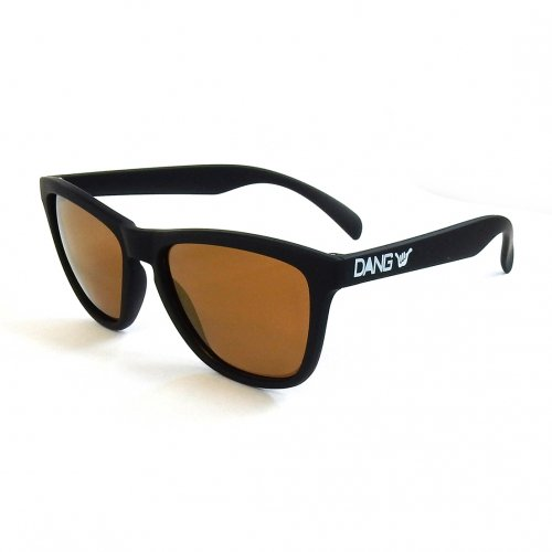 DANG SHADES ( ダンシェイディーズ ) ORIGINAL (BLACK SOFT × BRONZE MIRROR POLARIZED with ONE HANG LOOSE 偏光レンズ)
