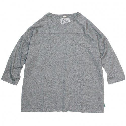 GOHEMP ( ゴーヘンプ ) ワイドフットボールTシャツ BASIC LADY'S WIDE FOOTBALL TEE ( BLACK HEATHER ) GHC4298TP6