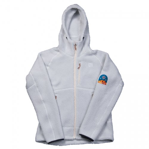 UN ( ユーエヌ ) UN3500 BOA FLEECE HOODY ( WHITE GREY )