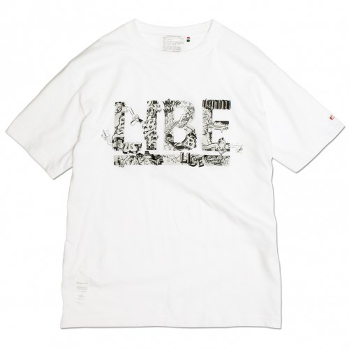 LIBE (ライブ) × ESOW BIG LOGO TEE (WHITE/SILVER PRINT) 17S16
