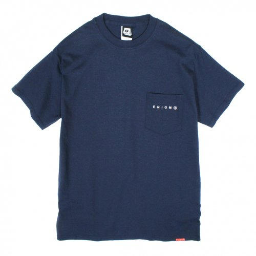 ENiGMa (エニグマ) LOGO POCKET TEE (NAVY)