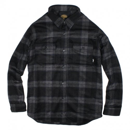 GREENCLOTHING (グリーンクロージング) 17-18 WOOL FLANNEL SHIRTS (NAVY CHECK)
