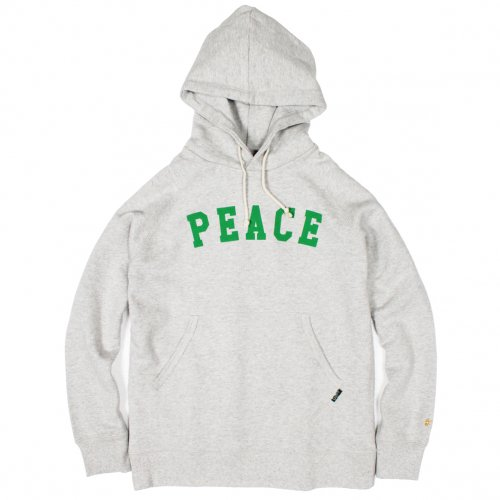 "GOHEMP (ゴーヘンプ) MEN'S ""PEACE"" PULL PARKA (ASH HEATHER) GHC2073PEC"