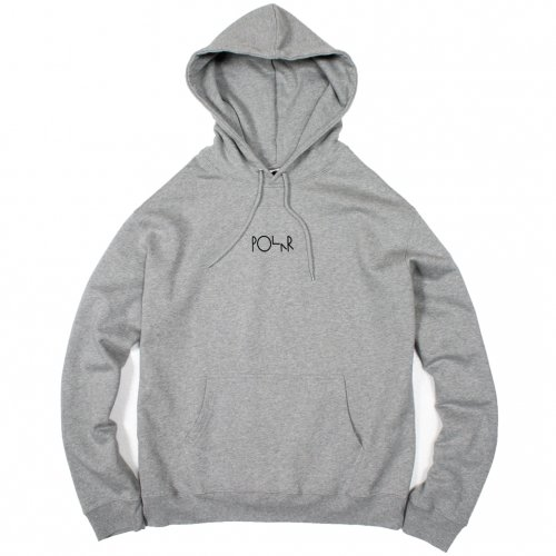 POLAR (ポーラー) AMERICAN FLEECE HOOD (GREY)