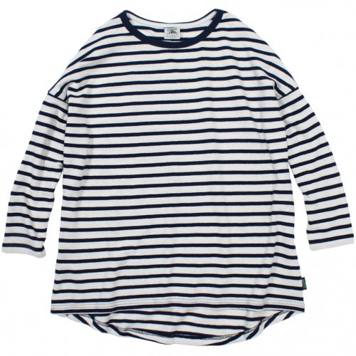 GOHEMP (ゴーヘンプ) MEN'S H/C BORDER ROUND LOOSE TEE (MARINE NAVY) GHC4452SJB
