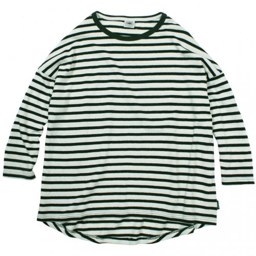 GOHEMP (ゴーヘンプ) MEN'S H/C BORDER ROUND LOOSE TEE  (KALE GREEN) GHC4452SJB