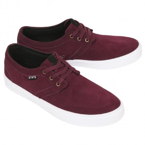 STATE FOOTWEAR ( ステートフットウエアー ) BISHOP ( BLACK CHERRY / WHITE SUEDE )