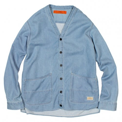 GOWEST (ゴーウエスト) MEN'S COMFORT CARDIGAN (BLEACH) GWS3059TDU