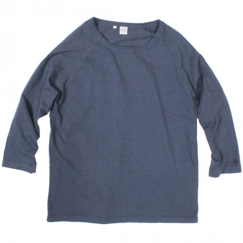 GOWEST (ゴーウエスト) MEN'S RAGLAN 3/4 SLEEVE TEE (NAVY) GWC9130HWJ