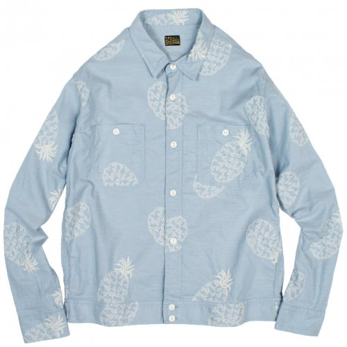 PIG&ROOSTER ( ピッグアンドルースター ) DA CHAMBRAY TOP ( BLUE*WHITE ) PR-8SS-SH05