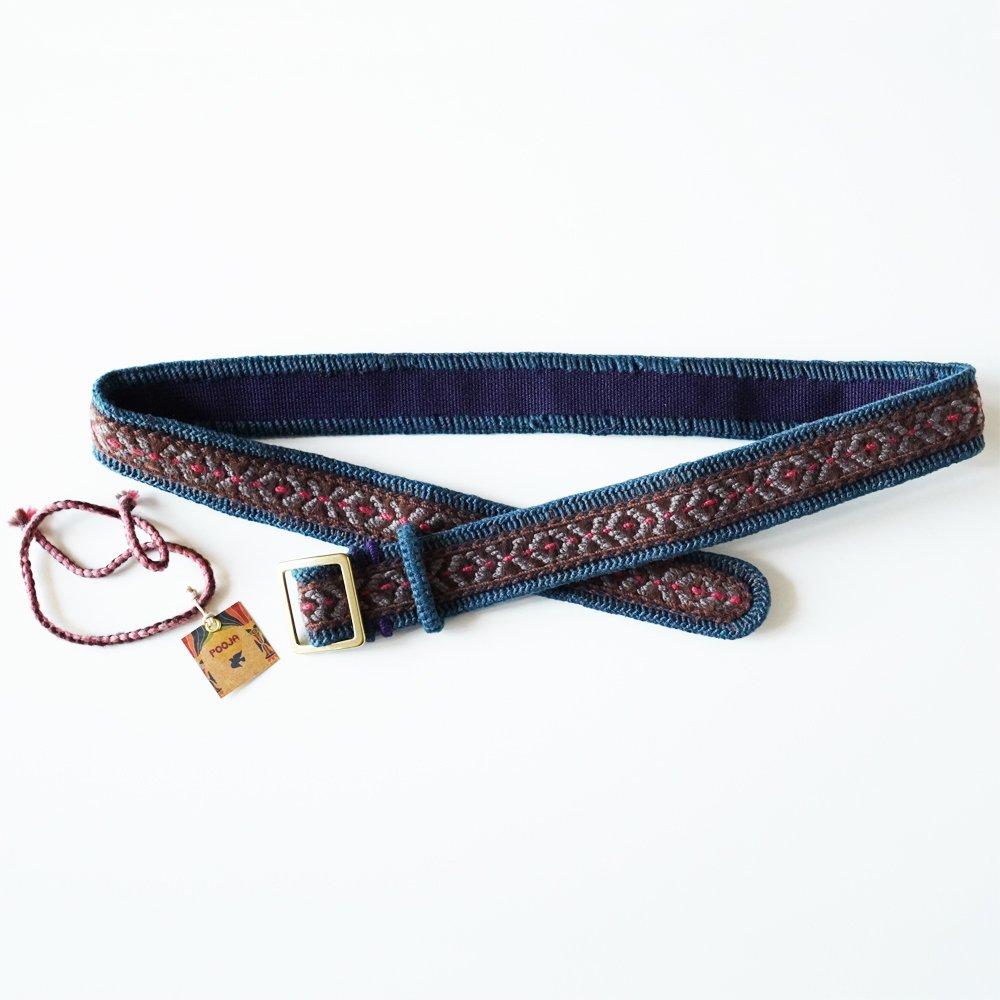 GREENCLOTHING (グリーンクロージング) × POOJA 刺繍ベルト
