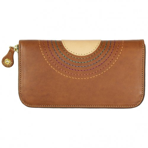 MAGIC THEATER (マジックシアター) RAINBOW 22°HALO 12 ZIP LONG PURSE (BROWN)
