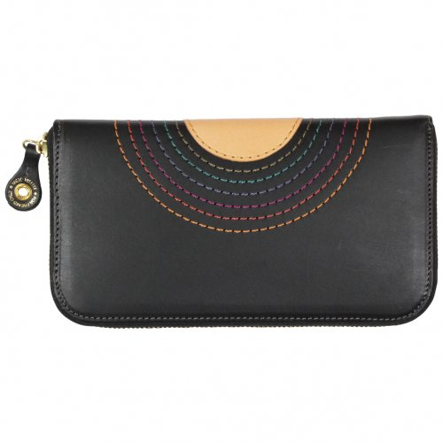 MAGIC THEATER ( マジックシアター ) RAINBOW 22°HALO 12 ZIP LONG PURSE (BLACK)