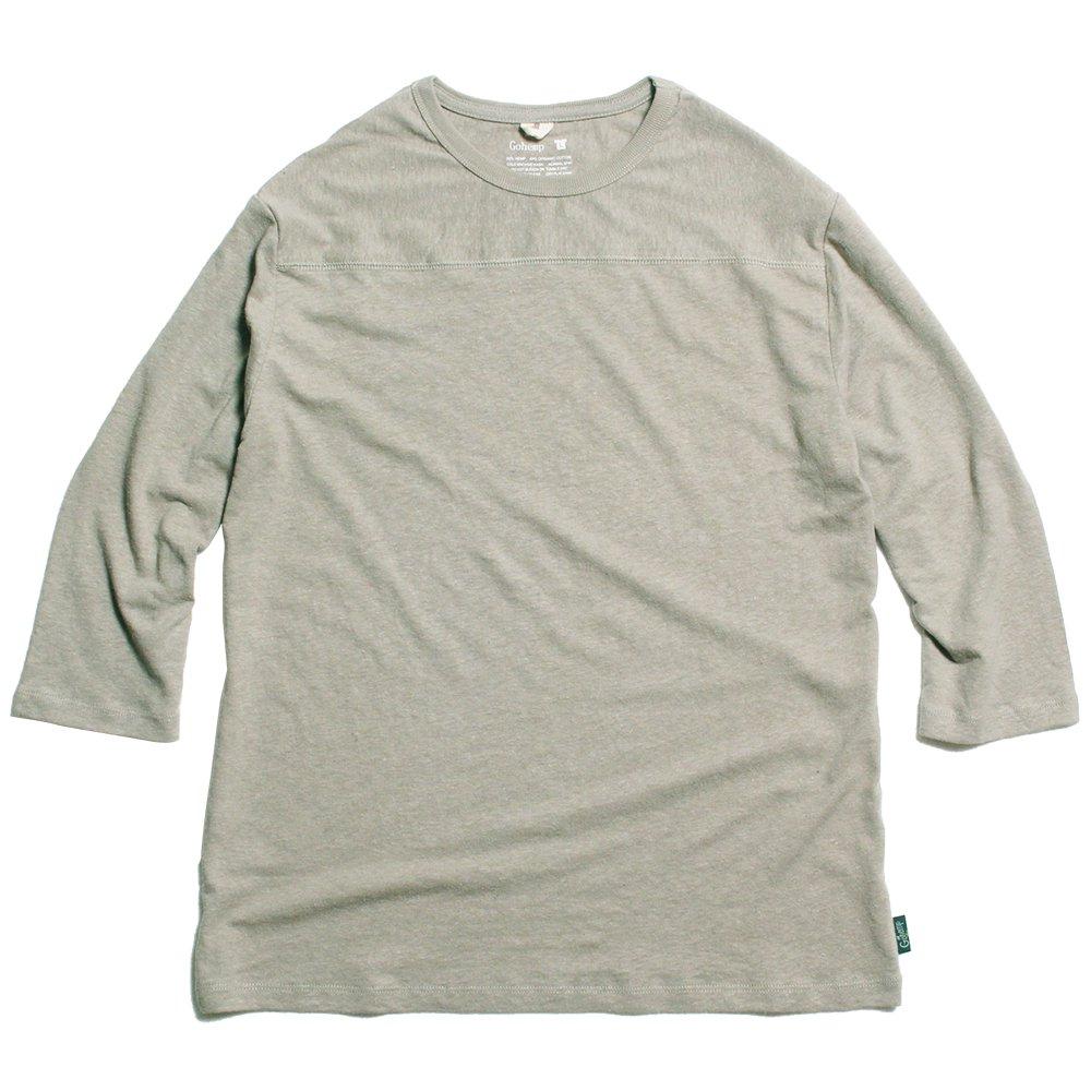 GOHEMP ( ゴーヘンプ ) フットボールTシャツ BASIC FOOTBALL TEE ( SAND STONE ) GHC4202RG