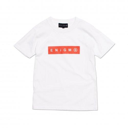 ENiGMa ( エニグマ ) キッズTシャツ BOX LOGO KIDS T-SHIRTS ( WHITE )