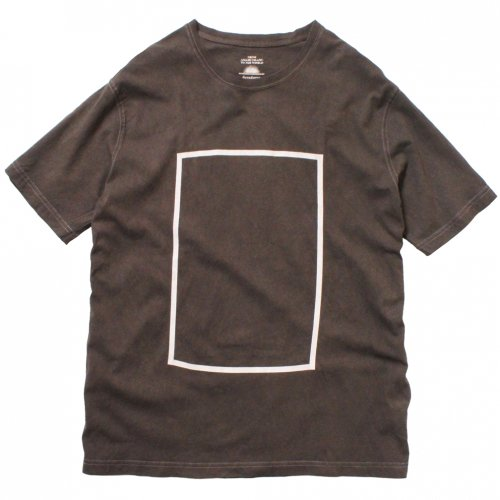 DEVADURGA ( デヴァドゥルガ ) Tシャツ SQUARE PRINT CUT SEW ( CHARCOAL ) dg-843