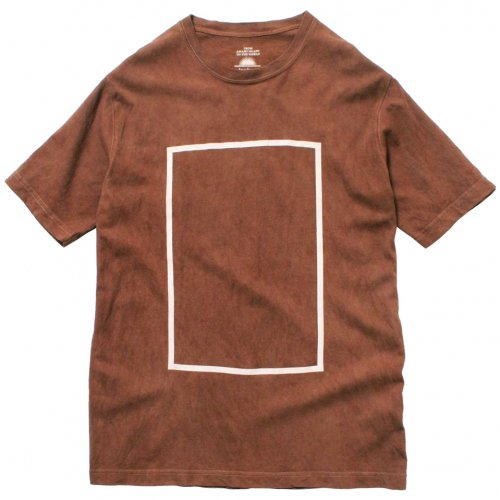 DEVADURGA ( デヴァドゥルガ ) Tシャツ SQUARE PRINT CUT SEW ( BROWN ) dg-843