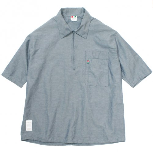 LIBE ( ライブ ) × REMILLA ( レミーラ ) シャツ L&R HALF SLEEVE ZIP SHIRTS ( BLUE CHAMBRAY ) 18S17