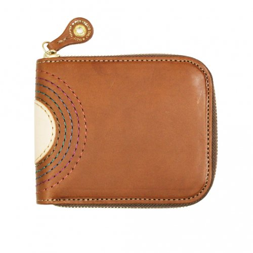 MAGIC THEATER ( マジックシアター ) 財布 RAINBOW 22°HALO 14 ZIP SLIM PURSE (BROWN)
