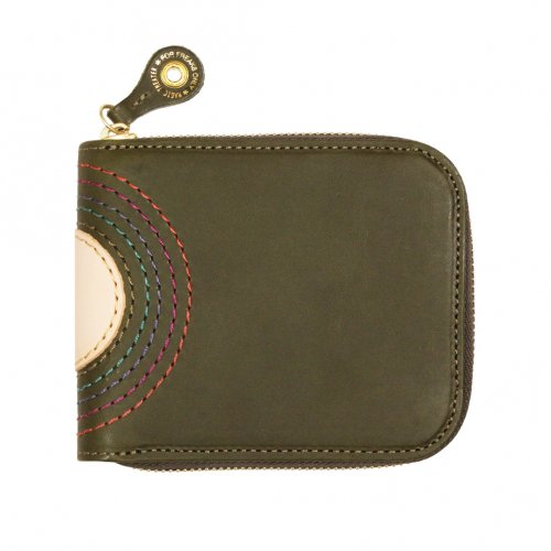MAGIC THEATER ( マジックシアター ) 財布 RAINBOW 22°HALO 14 ZIP SLIM PURSE (MOSS GREEN)