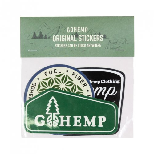 GOHEMP ( ゴーヘンプ ) ステッカー GOHEMP ORIGINAL STICKERS PACK ( B SET ) GHG0187HSC