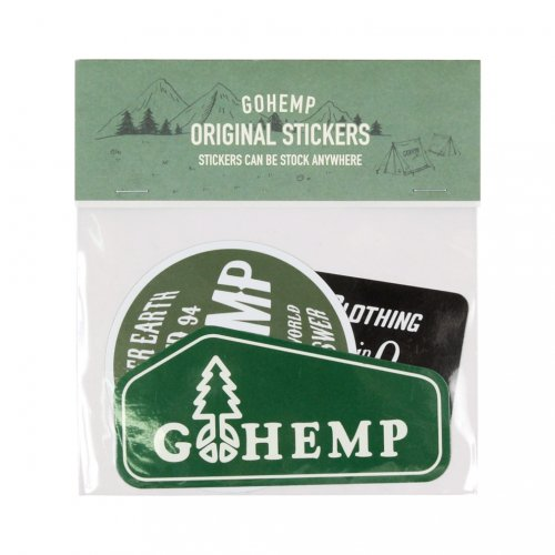 GOHEMP ( ゴーヘンプ ) ステッカー GOHEMP ORIGINAL STICKERS PACK ( A SET ) GHG0187HSC
