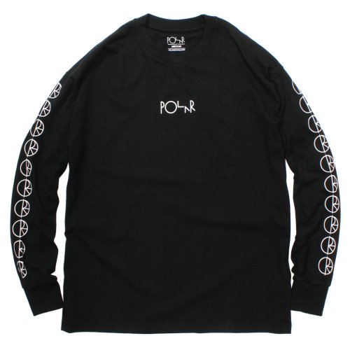 POLAR SKATE CO. ( ポーラー ) RACING LS TEE ( BLACK )