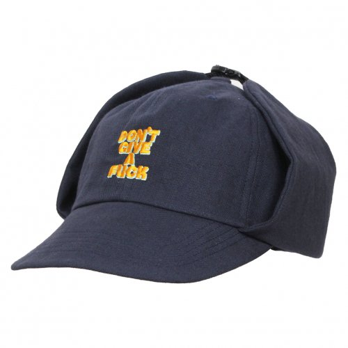 THE UNION ( ザユニオン ) CLASSIC ONE CAP W/EAR WARMAER DF EMBROIDERY ( NAVY )
