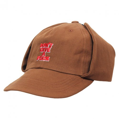 THE UNION ( ザユニオン ) CLASSIC ONE CAP W/EAR WARMAER DF EMBROIDERY ( BROWN )