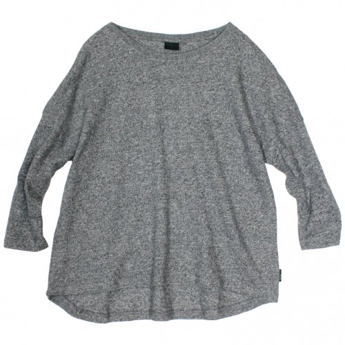 GOHEMP ( ゴーヘンプ ) LADY'S ROUND LOOSE TEE ( BLACK HEATHER ) GHC4452HPJ18-2