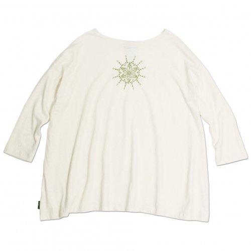 GOHEMP ( ゴーヘンプ ) × JAU ( ジャウー ) コラボTシャツ LADY'S SUNNY WIDE TEE ( NATURAL )