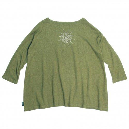 GOHEMP ( ゴーヘンプ ) × JAU ( ジャウー ) コラボTシャツ LADY'S SUNNY WIDE TEE ( LIME GREEN )