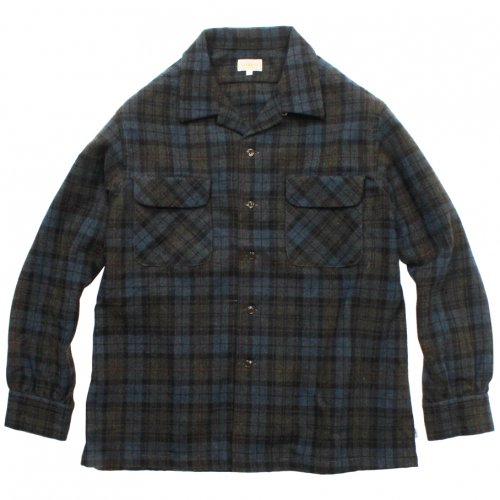 GOWEST ( ゴーウエスト ) OUT OF BORDER SHIRTS ( OLIVE ) GWS3061WMC
