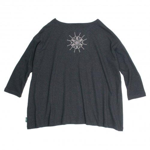 GOHEMP ( ゴーヘンプ ) × JAU ( ジャウー ) コラボTシャツ LADY'S SUNNY WIDE TEE ( GUNMETAL GRAY )