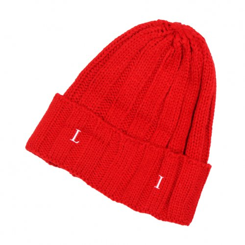 LIBE ( ライブ ) ニットキャップ ROUND LOGO RIB KNIT CAP ( RED ) 18A06