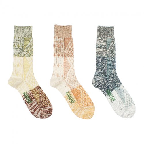 GOHEMP ( ゴーヘンプ ) ソックス NEP CABLE CREW SOCKS GHG0025GLL