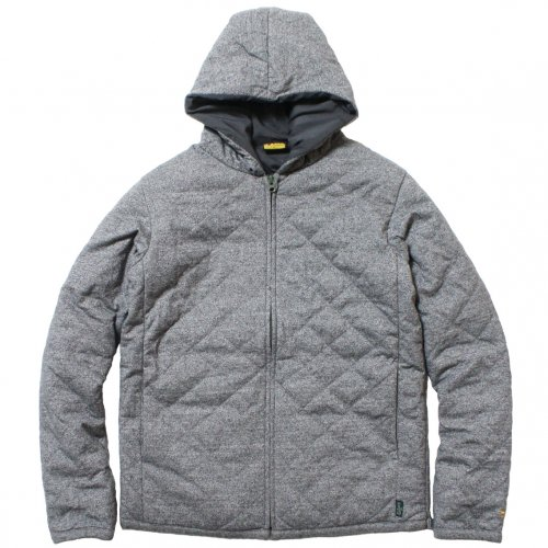 GOHEMP ( ゴーヘンプ ) パーカー MEN'S QUILT ZIP PARKA ( BLACK HEATHER ) GHJ6092HJD