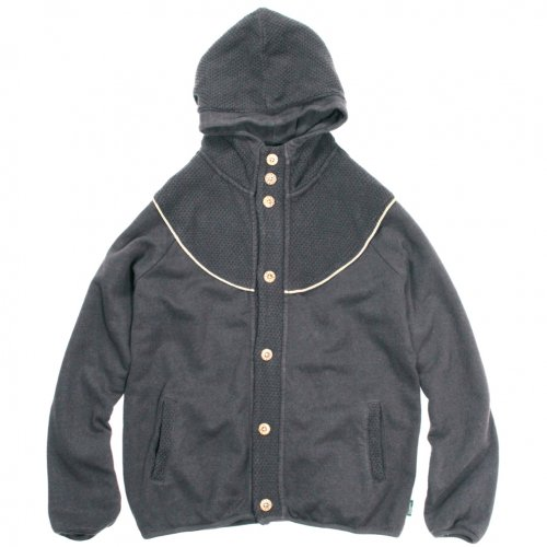 GOHEMP ( ゴーヘンプ ) パーカー LADY'S MONGOLIAN HOODY PARKA ( CHARCOAL GRAY ) GHC5000BKN