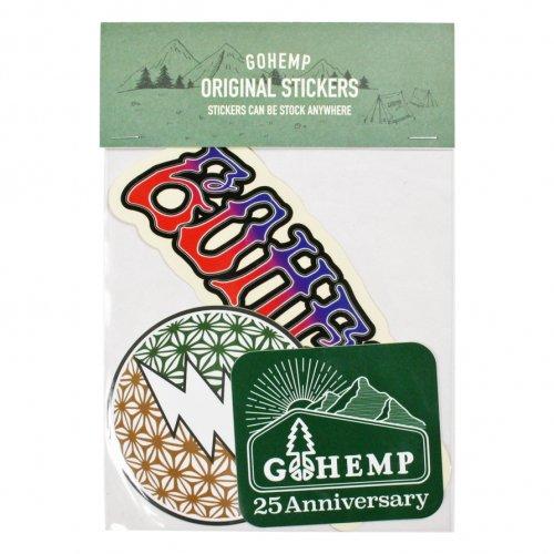 GOHEMP ( ゴーヘンプ ) ステッカー GOHEMP ORIGINAL STICKERS PACK ( C SET ) GHG0187HSC